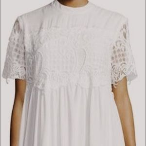 SOLD pretty little things white babydoll dress